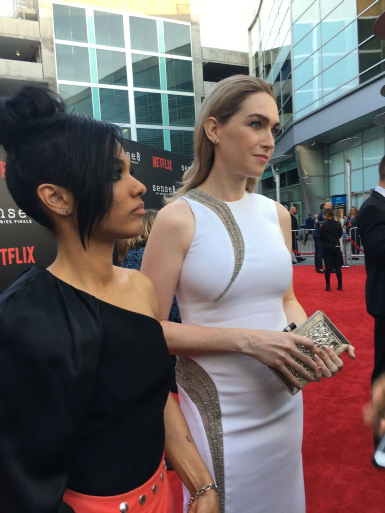 Freema Agyeman and Jamie Clayton discussing the relationship of their characters.